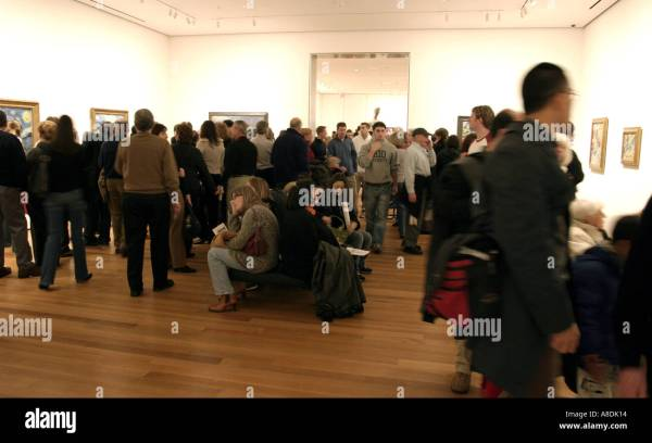 Crowded In Museum Of Modern Art Manhattan York Stock Royalty Free