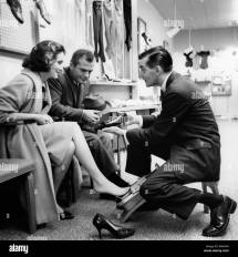 1960s Shoe Salesman Woman