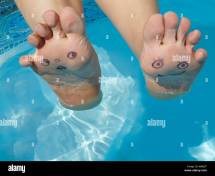 Foot Feet In Water Swimming Pool Funny Face Faces