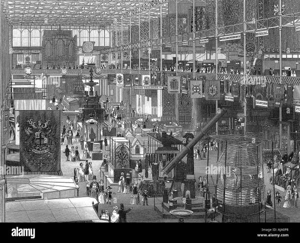 Great Exhibition In Crystal Palace Hyde Park London 1851 Stock Royalty Free
