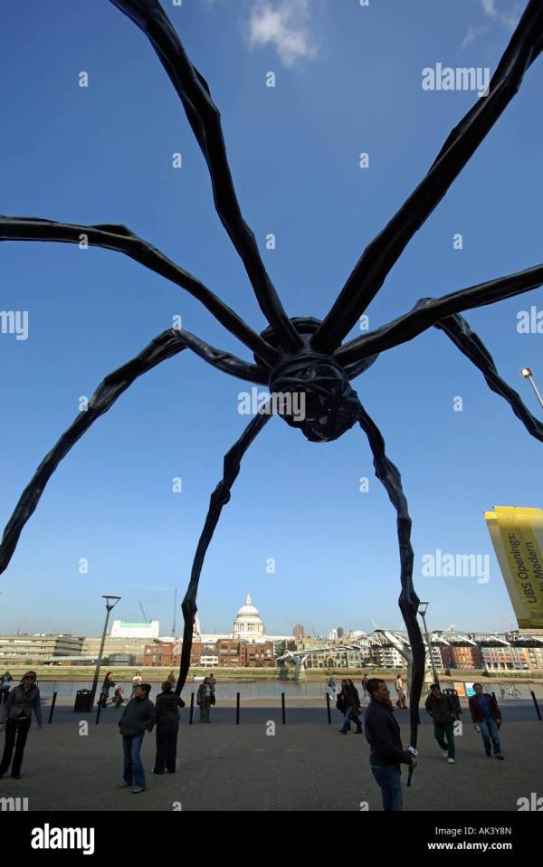 Maman Spider Sculpture London Tate Modern Forming Frame Stock Royalty Free