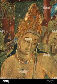 Art Fresco Ajanta caves Indian Buddhist wall painting ...