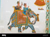 Wall art in Udaipur, India Stock Photo, Royalty Free Image ...