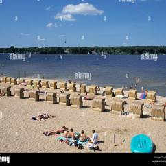 Air Travel Beach Chairs Living Room Chair Covers Amazon D Berlin Wannsee Lake Open Swimming Pool
