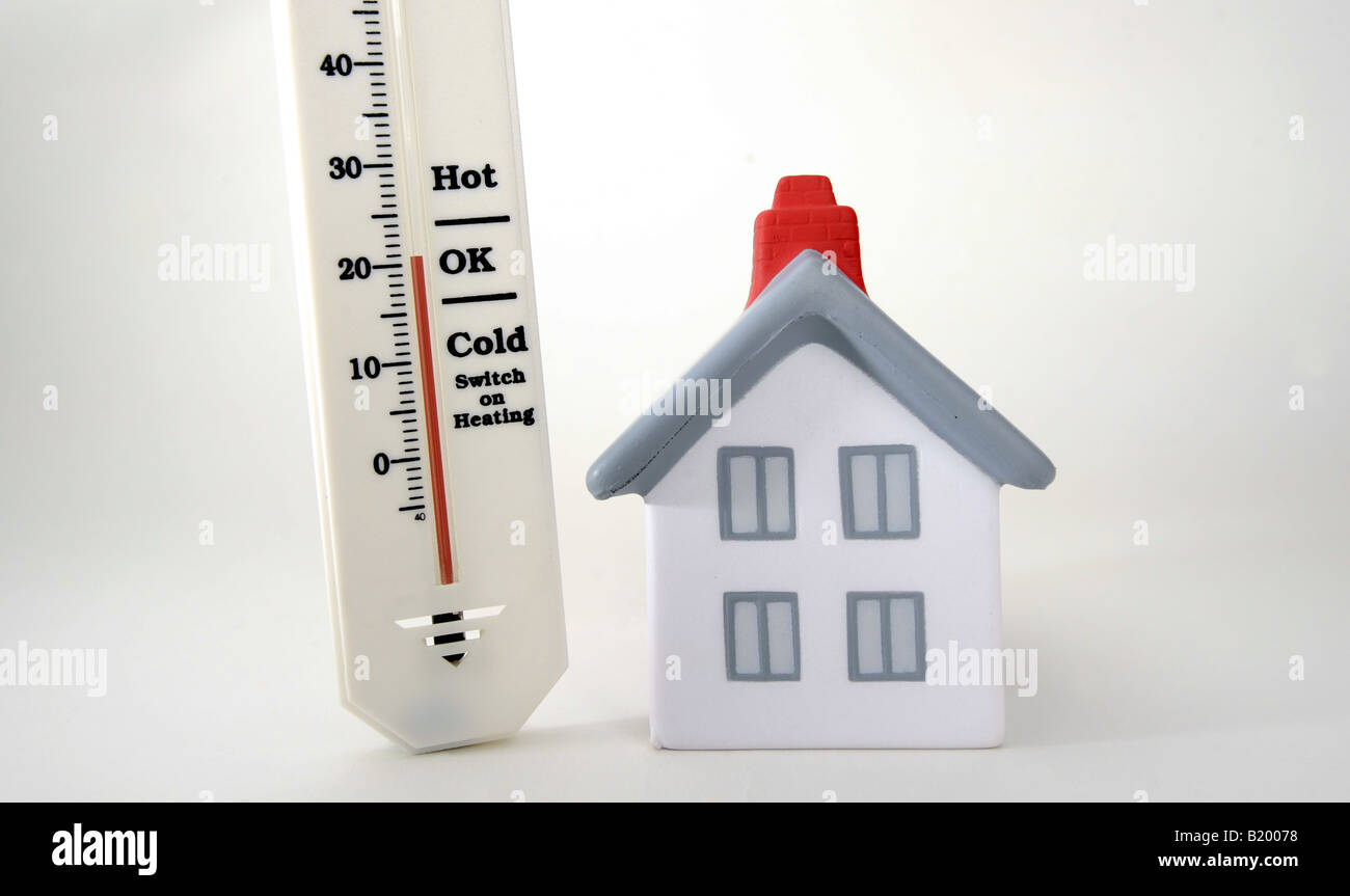 HOUSE WITH THERMOMETER SHOWING 20 DEGREES CELCIUSROOM ...