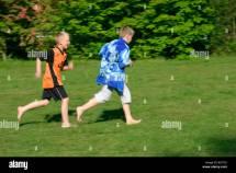 Barefoot Boy Running
