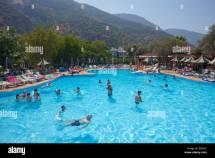 Pool In Belcekiz Beach Club Hotel Oludeniz Turkey Stock