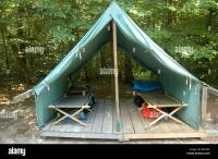 Canvas tent at Boy Scout summer camp Stock Photo, Royalty ...