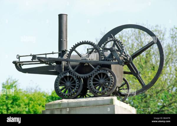 Merthyr Tydfil Wales Uk. Replica Of Steam Engine