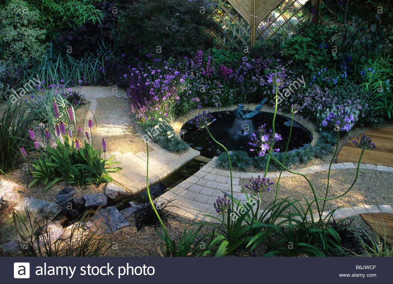 feng shui garden design Pamela Woods formal circular pool