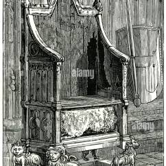 Black Throne Chair Chairs Good For Back Coronation Westminster Abbey Stone Of Scone Royal Stock Photo, Royalty Free Image ...
