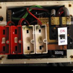 Old Fuse Box Wiring Diagram Weed Eater Carburetor Diaphragm Style Consumer Unit Electrical Wire Stock