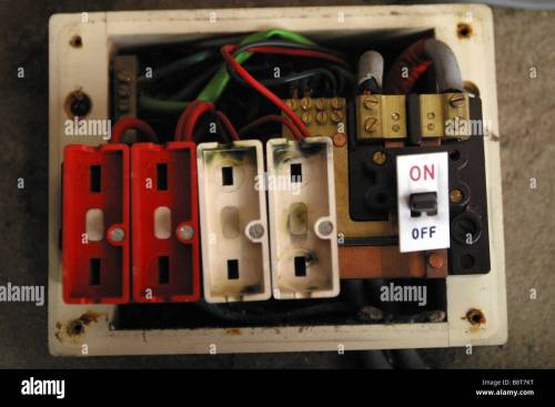 small resolution of old style consumer unit electrical wire fuse box stock