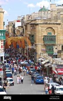 Tourists And Locals In Historical Quarter Of La