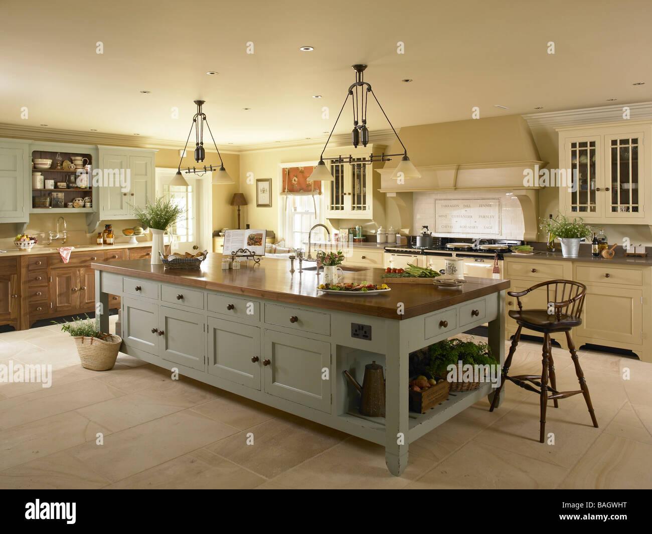 big kitchen island unique decor a large unit stock photo royalty free
