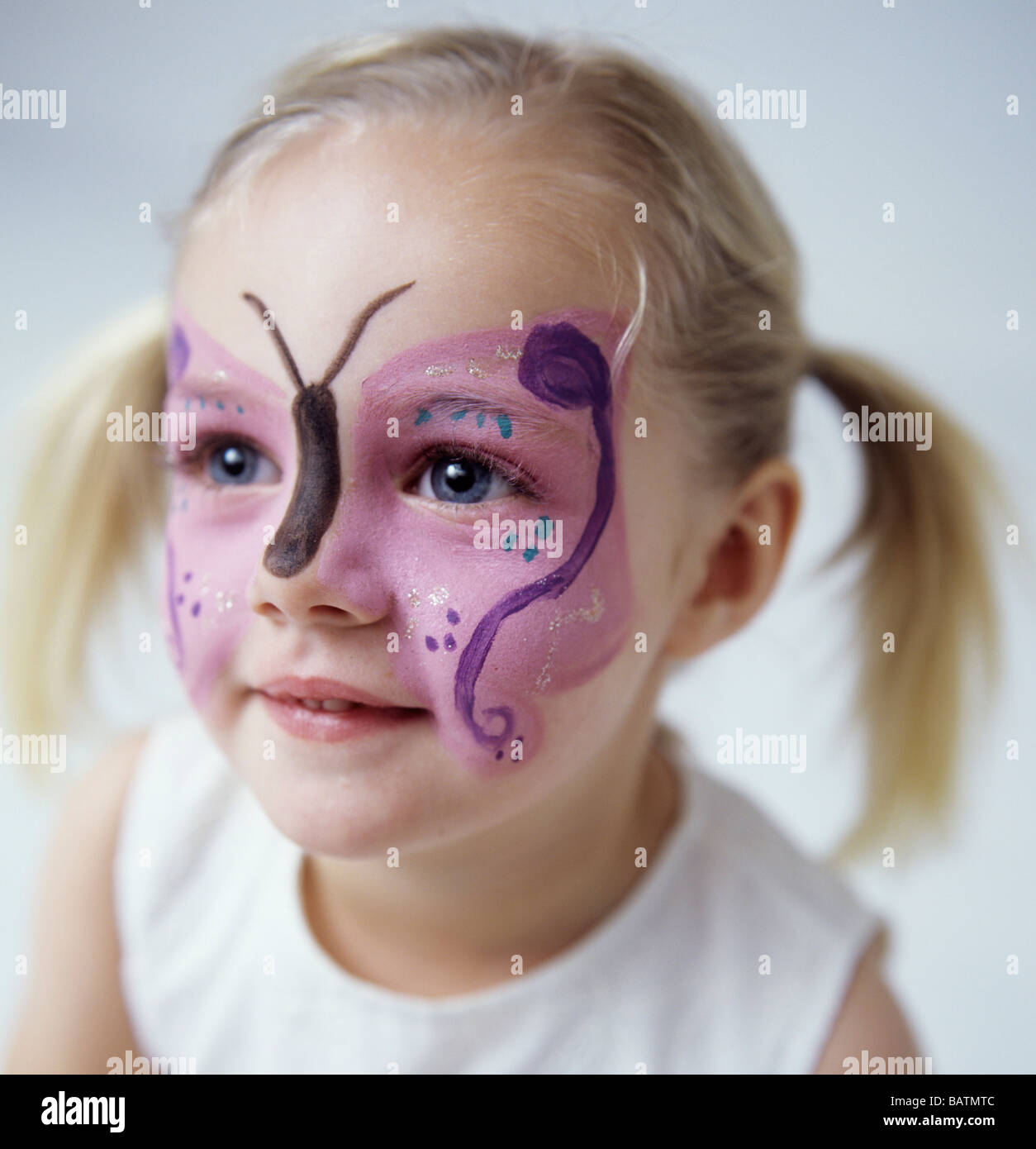 Face Painting 3 Year Old Girl Who Has Had Her Face