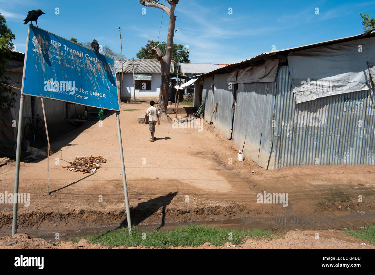 IDP  Internally displaced people resettlement Camp Sri Lanka Stock Photo