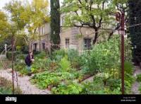 Urban Garden in front yard of home in upscale Hancock Park ...