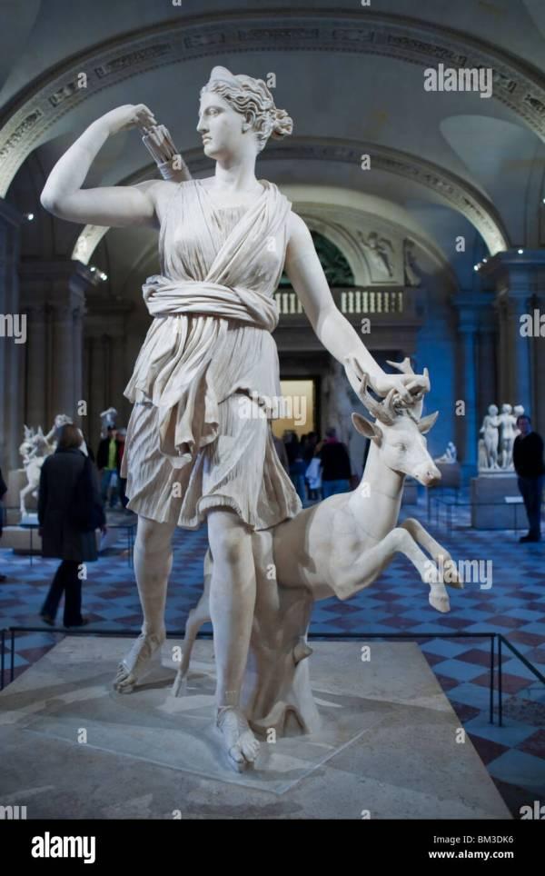 Greek Statues in Louvre Paris France
