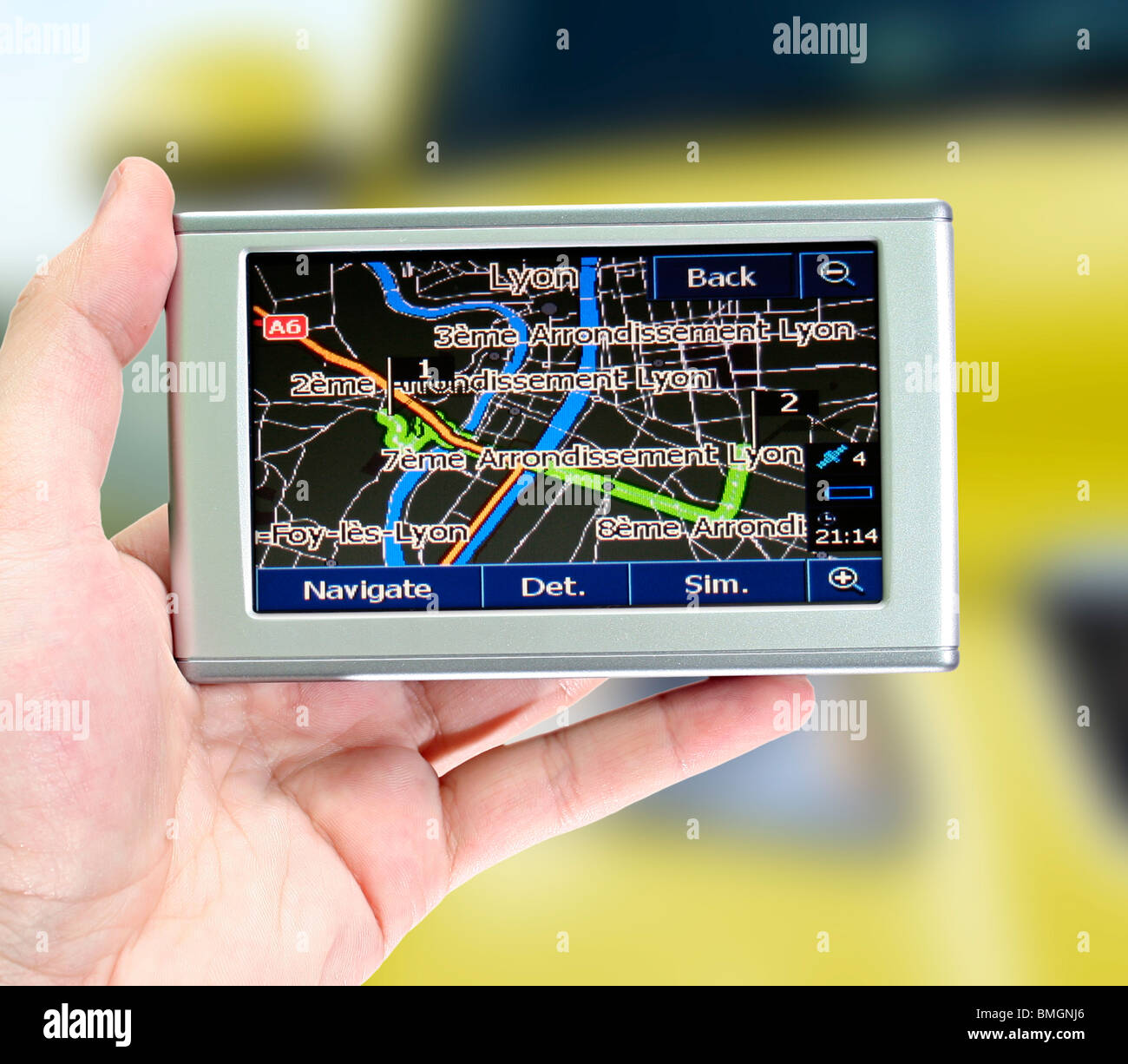 7 way navigation craftsman lawn tractor parts diagram gps in a man hand find your stock photo royalty