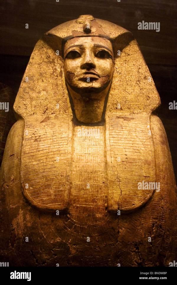 Egyptian Sarcophagus Stock & - Alamy