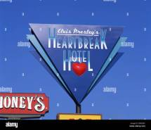 Heartbreak Hotel Sign Graceland Mansion Elvis Presley