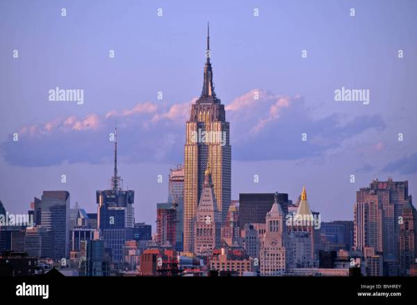 Empire State Building Manhattan York City Usa Brooklyn Bridge Stock Royalty Free