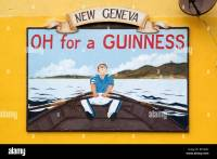 guinness poster wall art rowing boat new geneva stout ...