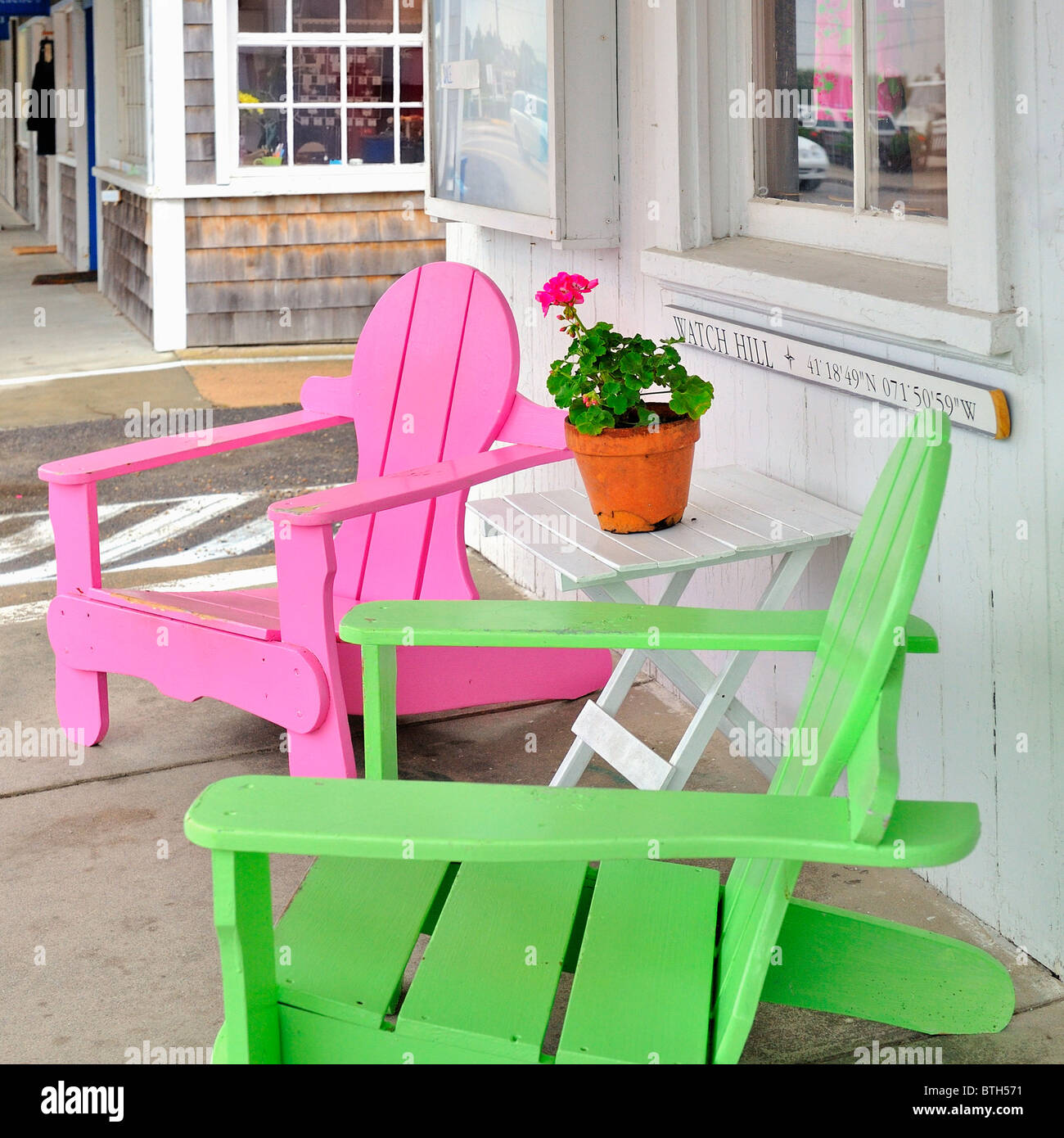 neon pink chair rocking height watch hill stock photos and images alamy