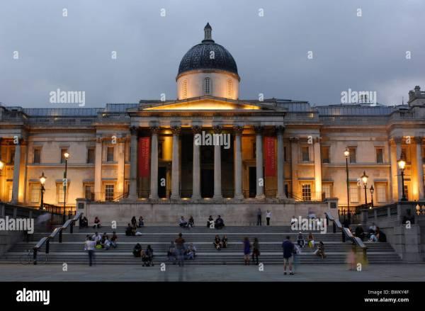 Uk London Trafalgar Square National Strand Great