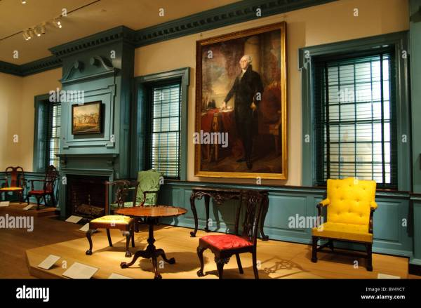 Alexandria Ballroom 1793 Virginia American Wing Stock Royalty Free