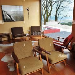 Lodge Living Room Furniture Doors Ski With Scandinavian Style Armchairs By Danish Designer Hans J Wegner