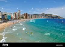 View Over Playa De Levante Beach Benidorm Costa Blanca