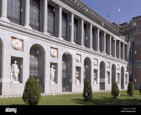 Madrid Museo Del Prado Museum Stock Royalty