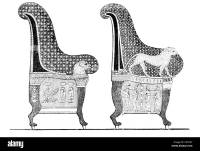 Ancient Egyptian Chairs High Backed Chair Royal Furniture ...