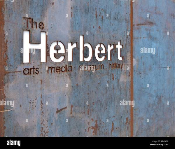 Sign Entrance Herbert Art And Museum Stock Royalty Free