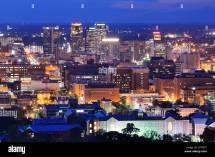 Downtown Skyline Of Birmingham Alabama Usa Night