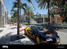Luxury Car Parked Rodeo Drive Beverly Hills Los