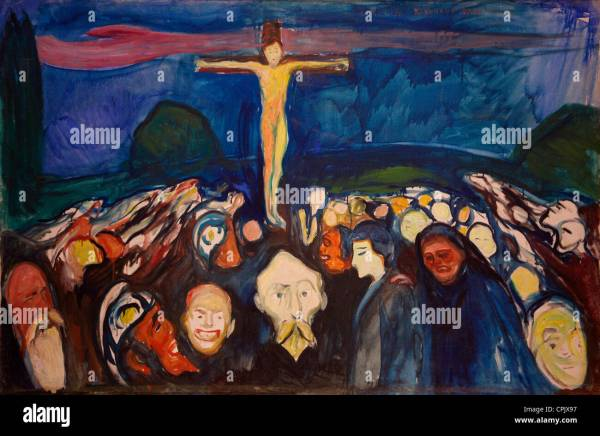 Golgotha 1900 Edvard Munch In Museum And
