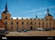 Main Square Burgos Spain Stock &