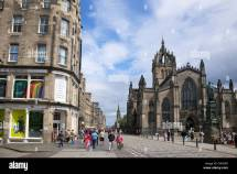 St Giles Cathedral And Royal Mile Town Edinburgh