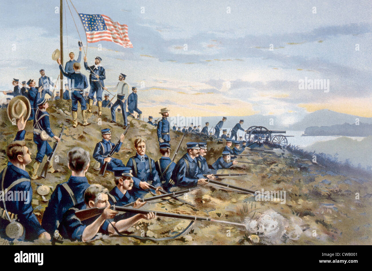 The Spanish American War First Hoisting Of The American