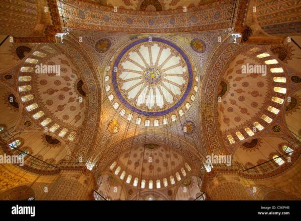 Beautiful Mosaic Interior Art Works Blue Mosque Sultan Stock Royalty Free
