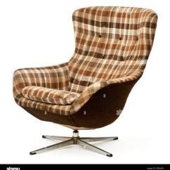 Swivel Chair Egg Artifort Orange Slice Vintage Upholstered And Tilt Stock Photo