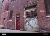 Old Garage Door Of Brick Building Stock Photo, Royalty ...