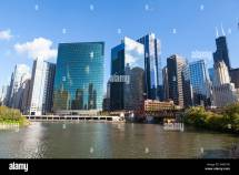 Chicago River And Towers Including Glass Fronted 333