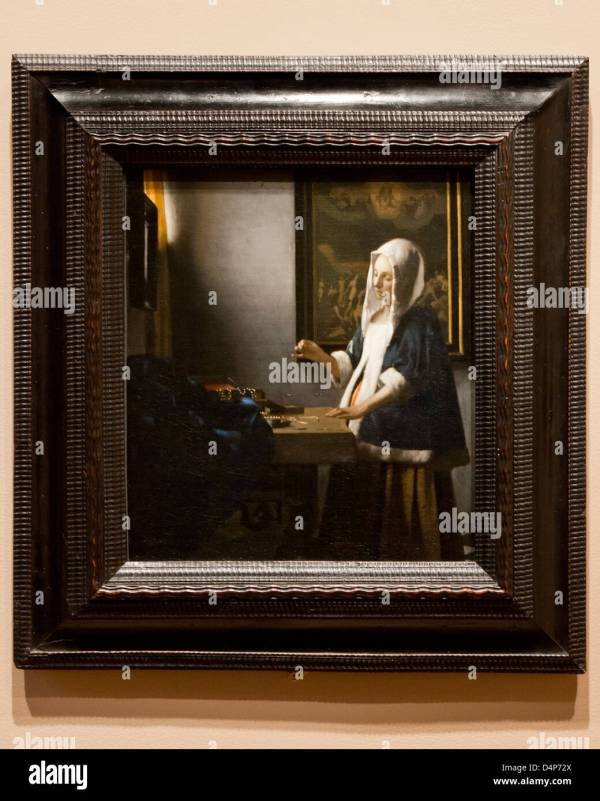 Woman Holding Balance Johannes Vermeer 1664