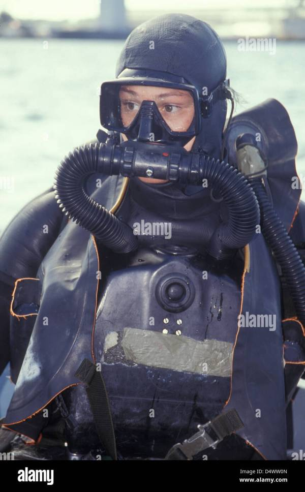 Navy Seal Combat Swimmer Wearing Closed Circuit