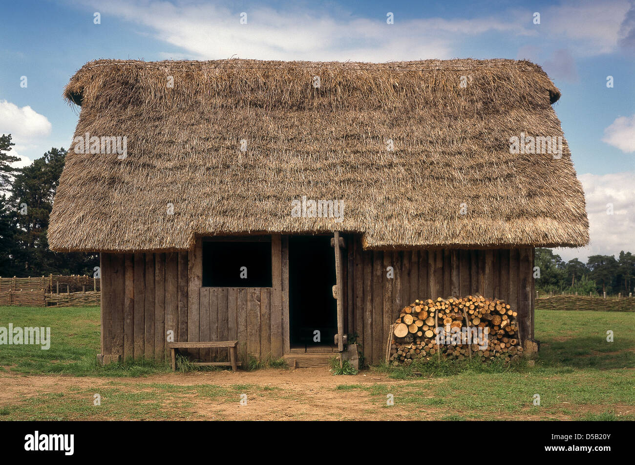 Recreated Anglo Saxon Village At West Stow Bury St