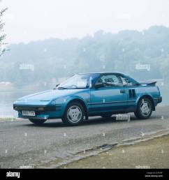 toyota mr2 mid engined sports car 1984 model year beige metallic stock photo 56356539 alamy [ 1298 x 1390 Pixel ]